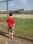 Oldest son spotted a P-51! The dreams he must be having